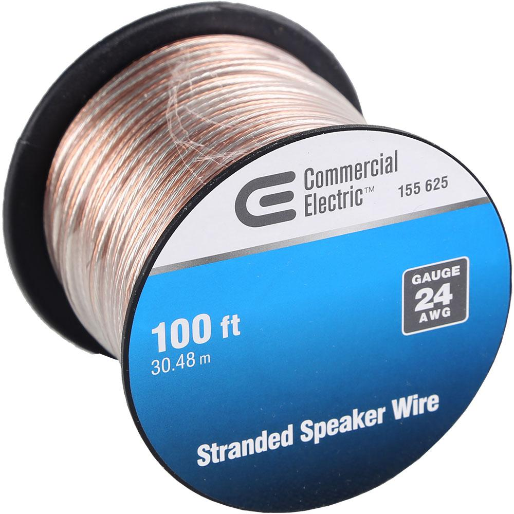 Commercial electric 100 ft 24 gauge stranded speaker wire y483233 24 gauge stranded speaker wire keyboard keysfo Images