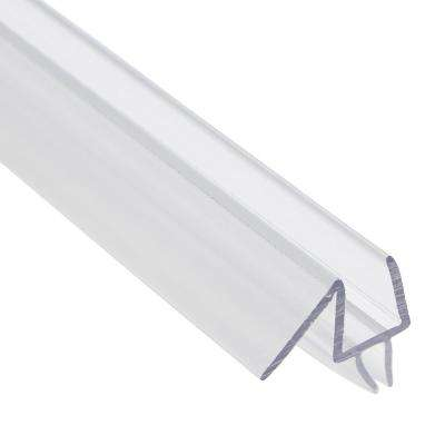 3/8 in. x 36 in. Clear Glass Door Bottom Seal Fits Frameless Door
