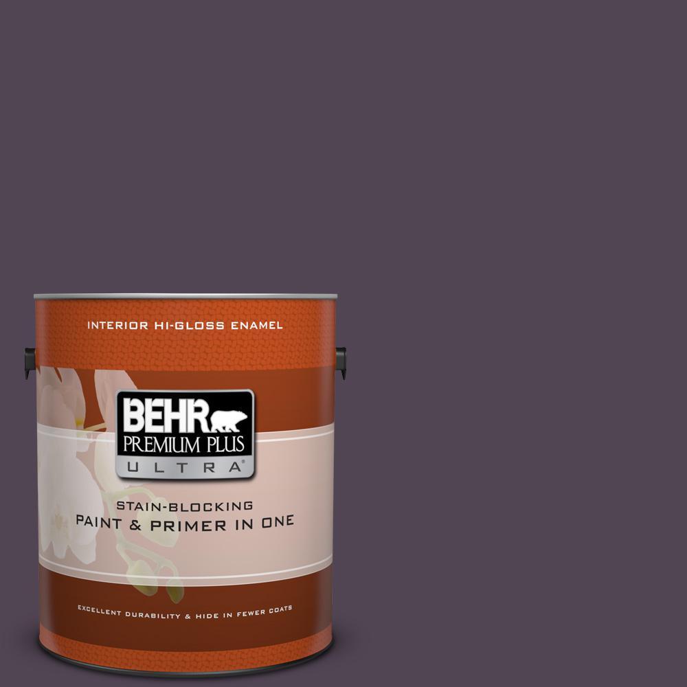 1 gal. #ECC-17-3 Napa Harvest Hi-Gloss Enamel Interior Paint