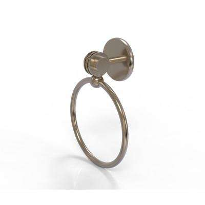 Satellite Orbit Two Collection Towel Ring with Dotted Accent in Antique Pewter