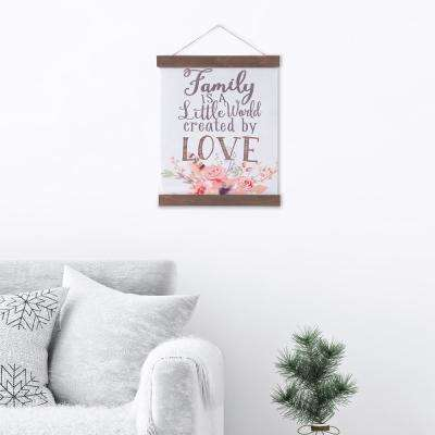 Family Created By Love Hanging Canvas Wall Art