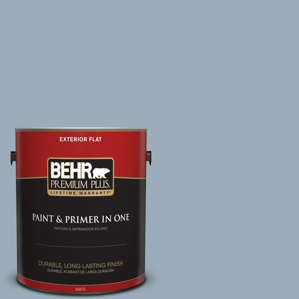 1-gal. #570F-4 Blue Willow Flat Exterior Paint