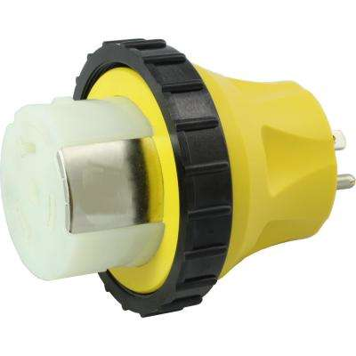 RV/Marine Adapter Regular Household 15 Amp Plug to 50 Amp RV/Marine Locking Female Connector
