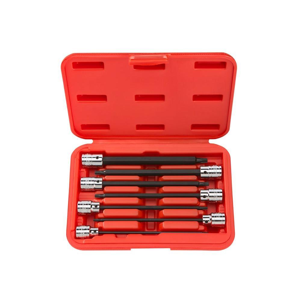 3/8 in. Drive T10-T40 Long Star Bit Socket Set