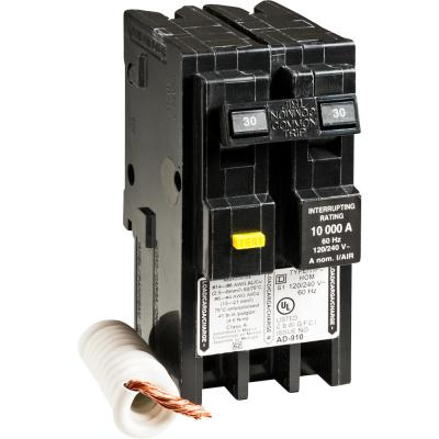 Homeline 30 Amp 2-Pole GFCI Circuit Breaker - Clear Packaging