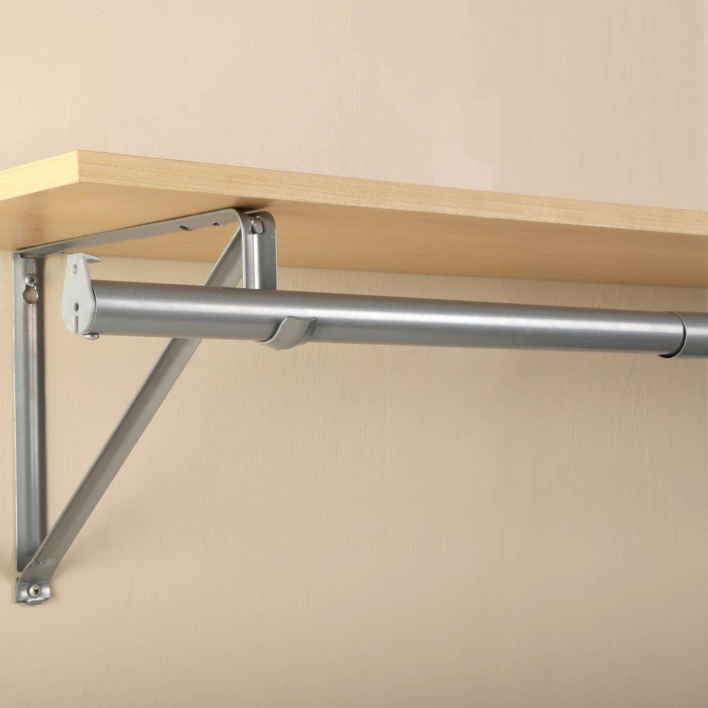 72 in. - 120 in. Platinum Adjustable Closet Rod