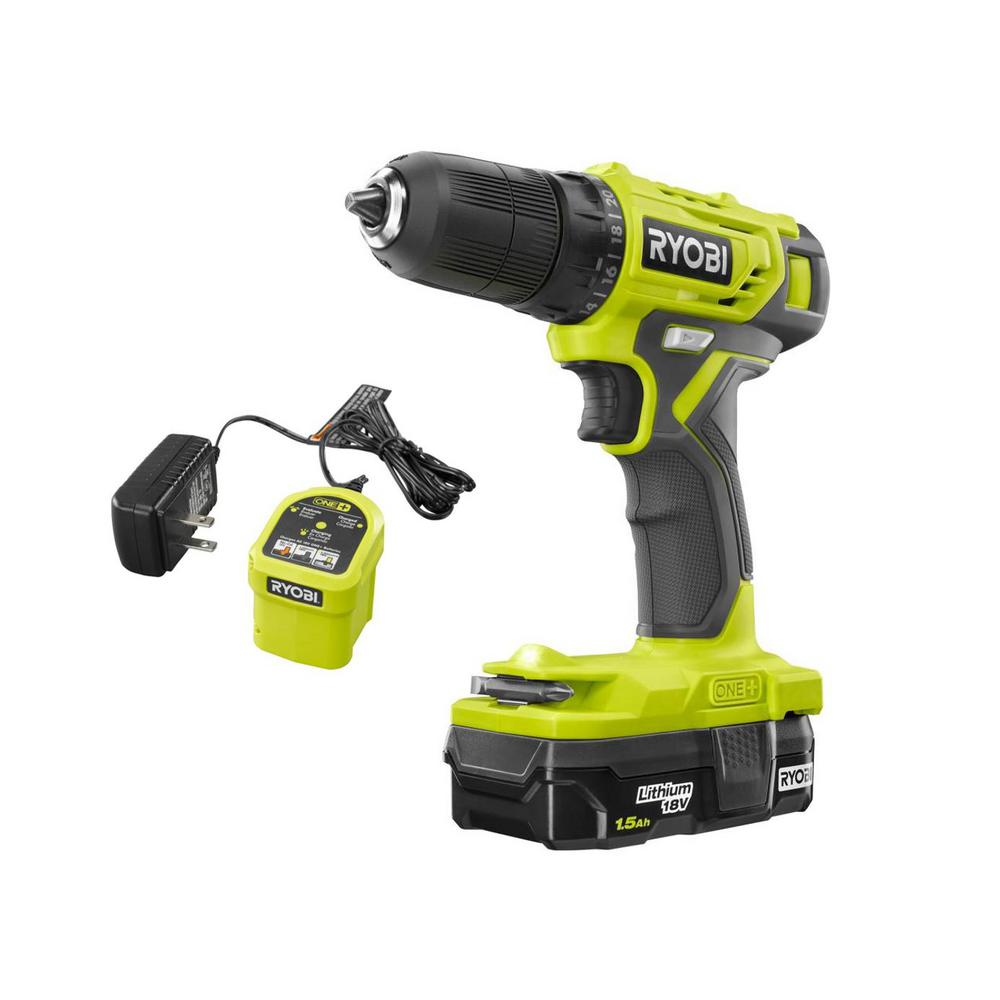 RYOBI 18-Volt ONE+ Cordless 3/8 in. Drill/Driver Kit with 1.5 Ah Battery and Charger