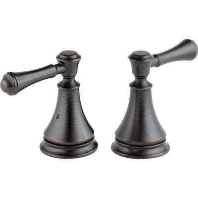 Pair of Cassidy Metal Lever Handles for Roman Tub Faucet in Venetian Bronze