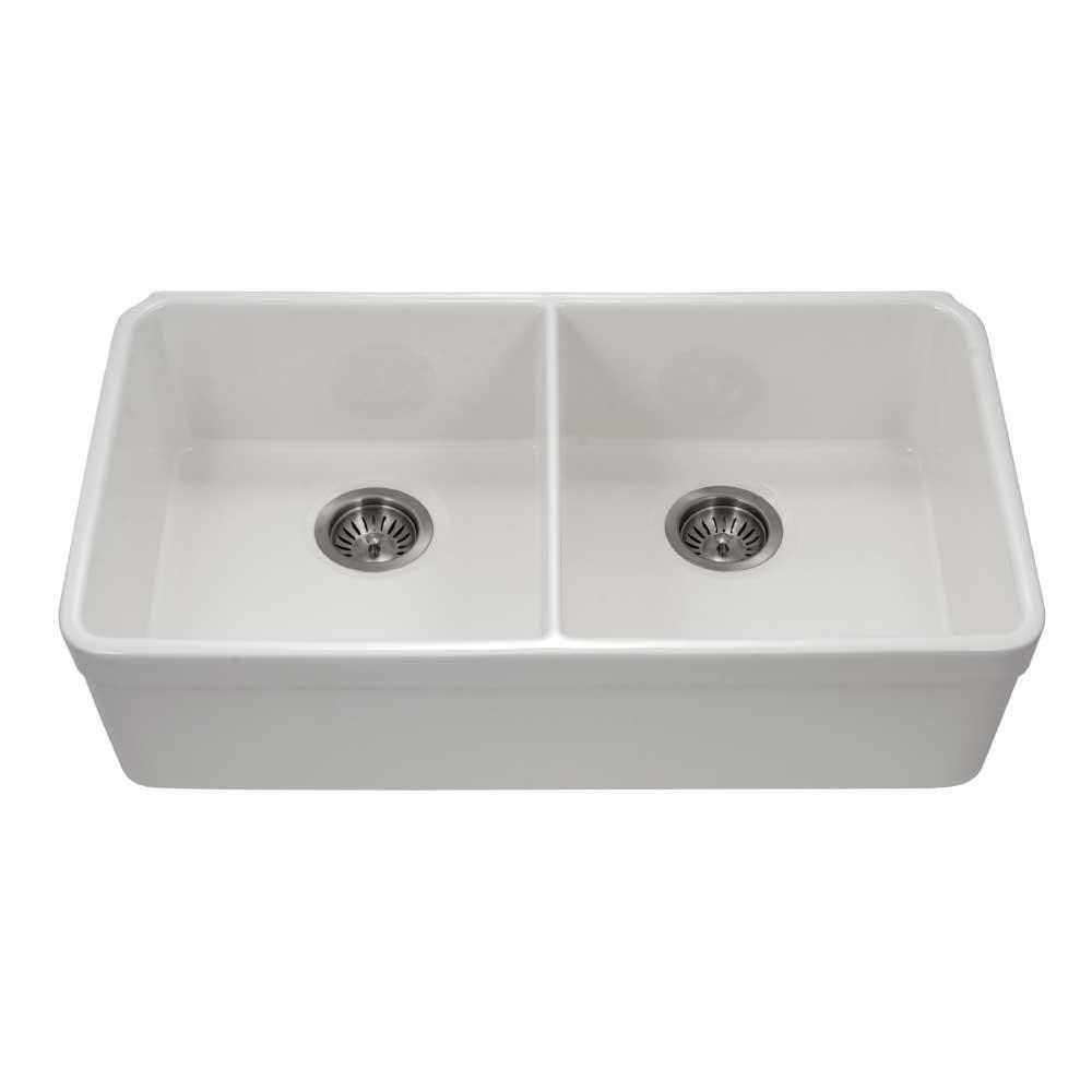 Best Undermount Fireclay Kitchen Sinks: KOHLER Langlade Smart Divide Undermount Cast-Iron 33 In. 6