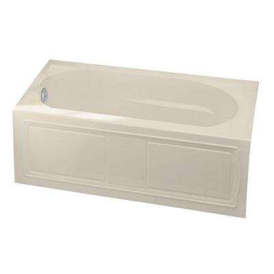 Devonshire 5 ft. Acrylic Left-Hand Drain with Integral Tile Flange Farmhouse Rectangular Alcove Bathtub in Almond