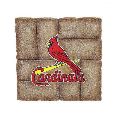 St Louis Cardinals 12 in. x 12 in. Decorative Garden Stepping Stone
