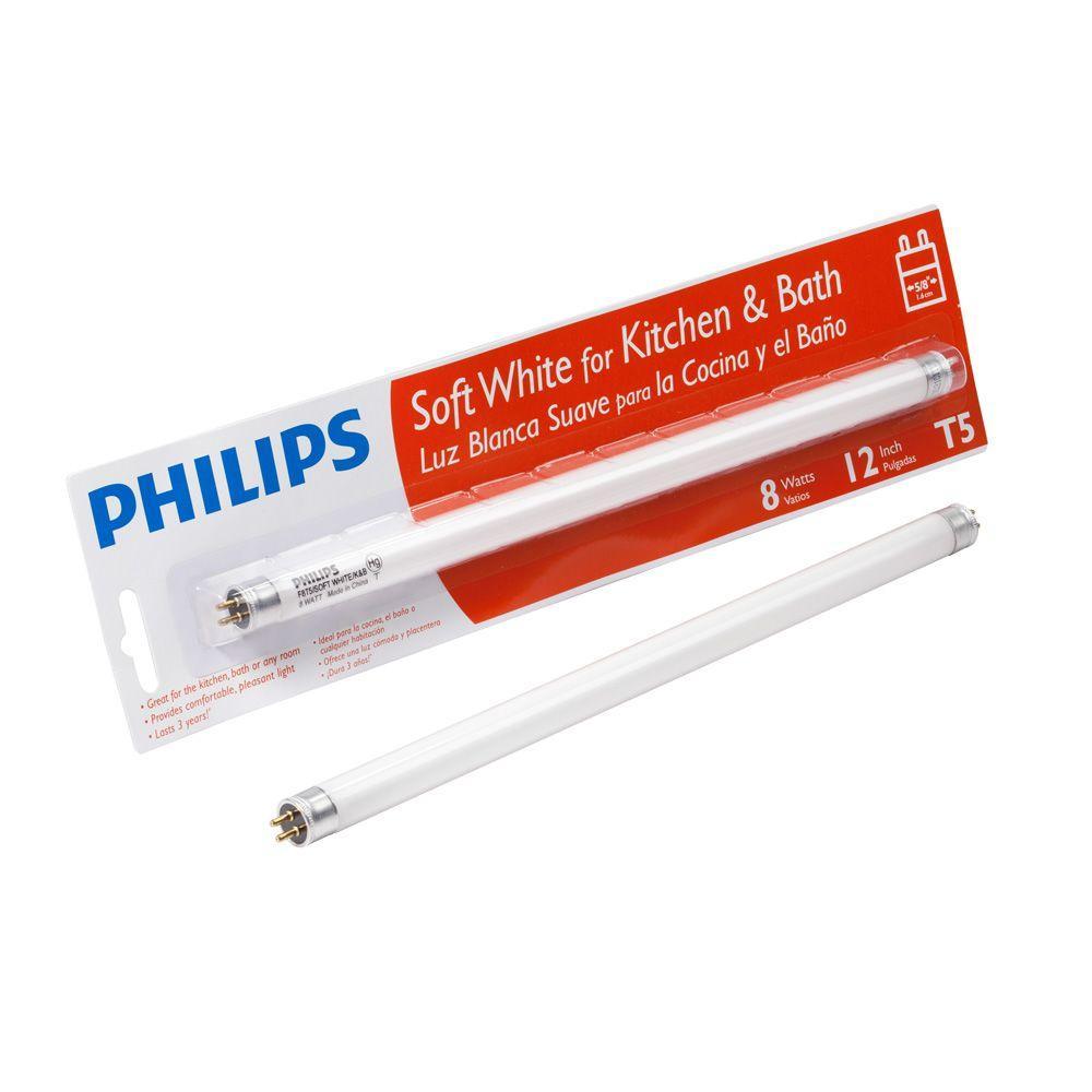 Philips 12 in. T5 8-Watt Soft White (2700K) Linear Fluorescent Light Bulb