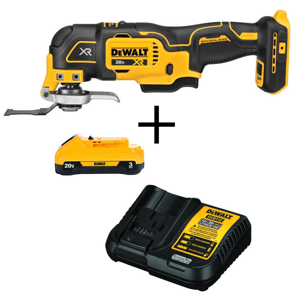 DEWALT 20-Volt MAX Lithium-Ion Cordless Brushless Oscillating Tool (Tool-Only) with Free 20-Volt MAX Battery 3.0Ah & Charger was $259.0 now $139.0 (46.0% off)