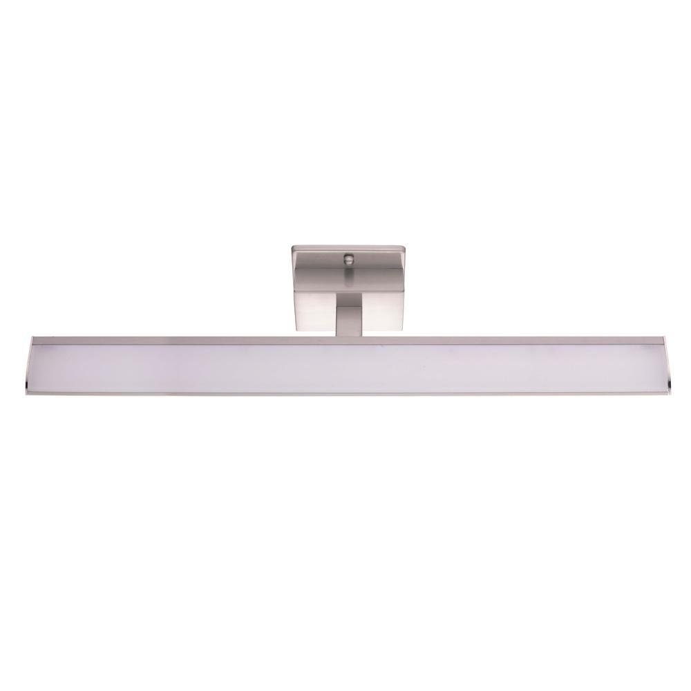 Tabiano 100-Watt Matte Nickel Integrated LED Bath Light