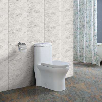Monaco 1-Piece 0.8/1.28 GPF Dual Flush Elongated Toilet in White