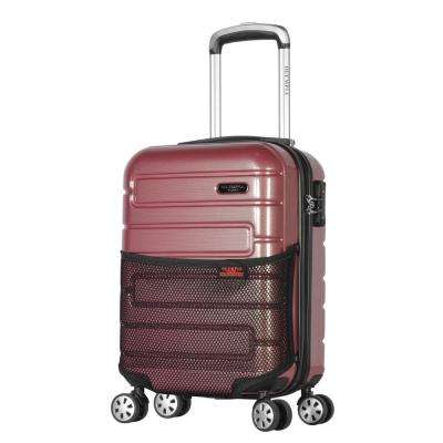 Nema 18 in. Rose Under the Seat Carry-On PC Hardcase Spinner with TSA Lock
