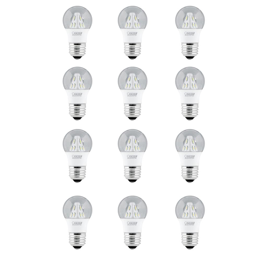 25W Equivalent Soft White (3000K) A15 LED Clear Light Bulb (12-Pack)