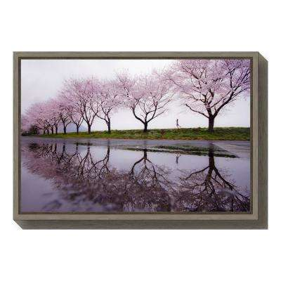 """Rain of spring"" by Kouji Tomihisa Framed Canvas Wall Art"