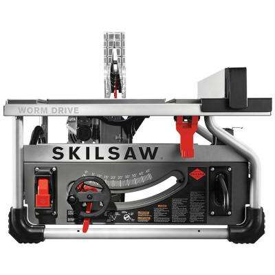 15 Amp Corded Electric 10 in. Portable Worm Drive Table Saw Kit with 30-Tooth Diablo Carbide Blade