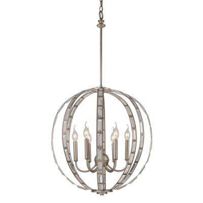 cage silver pendant lights lighting the home depot