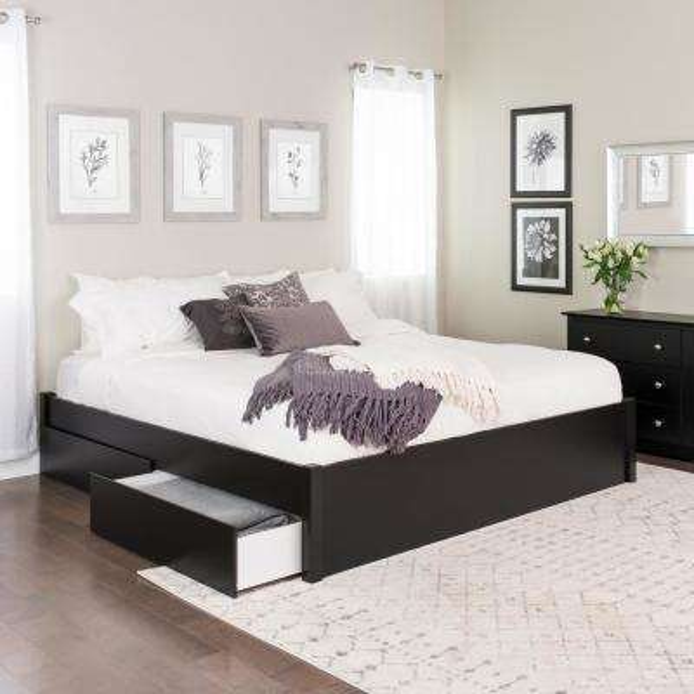 King - Storage - Black - Beds & Headboards - Bedroom Furniture - The ...