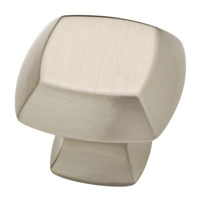 Mandara 1-1/4 in. (32mm) Satin Nickel Square Cabinet Knob