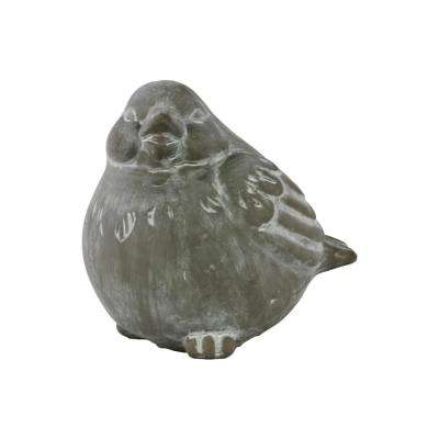7.00 in. H Figurine Decorative Sculpture in Gray Washed Concrete