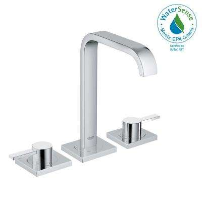 Allure 8 in. Widespread 2-Handle 1.2 GPM Bathroom Faucet in StarLight Chrome