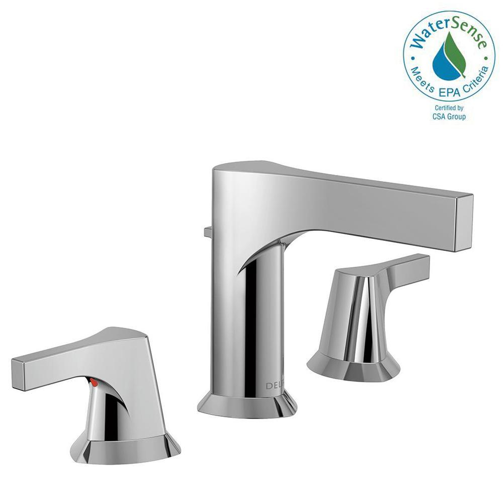Zura 8 in. Widespread 2-Handle Bathroom Faucet with Metal Drain Assembly