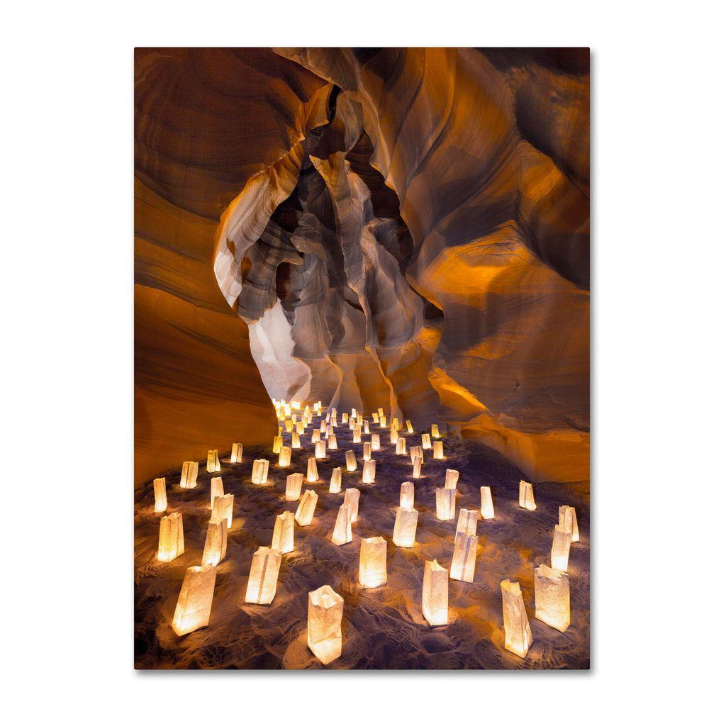 24 in. x 16 in. Candle Canyon I Canvas Art