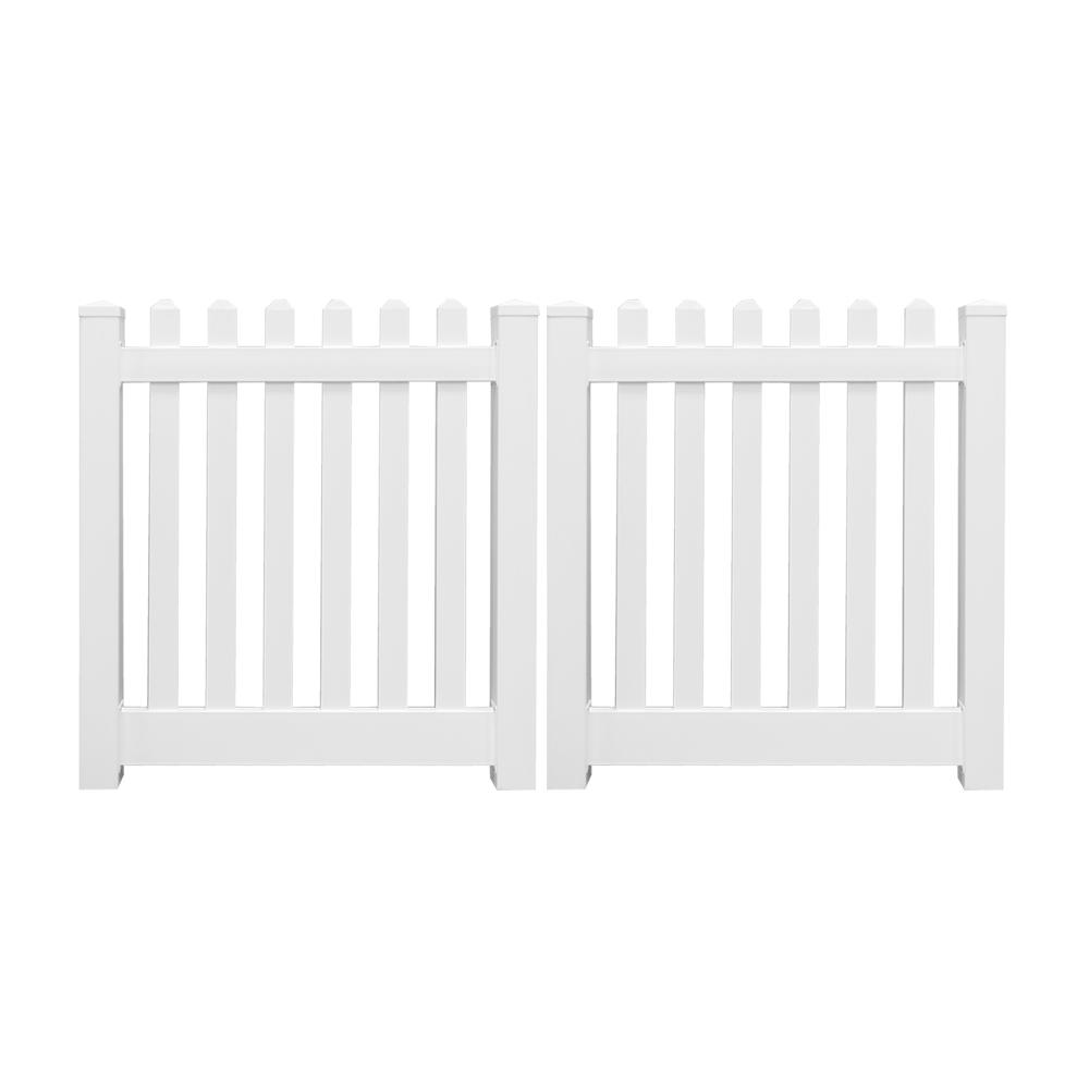 Weatherables Plymouth 8 Ft W X 3 Ft H White Vinyl Picket