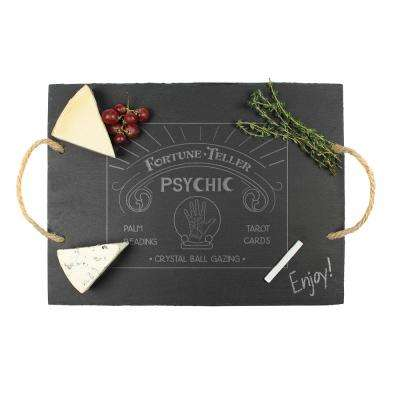 12 in. H Fortune Teller Slate Serving Tray