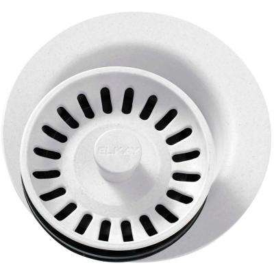 Polymer Disposer Fitting for 3-1/2 in. Sink Drain Opening in White