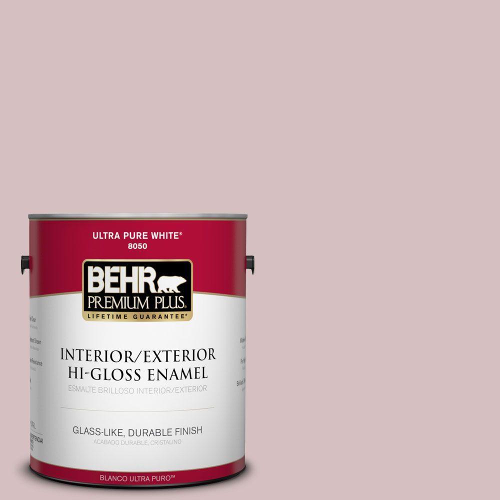 BEHR Premium Plus 1-gal. #710A-3 Sweet Breeze Hi-Gloss Enamel Interior/Exterior Paint