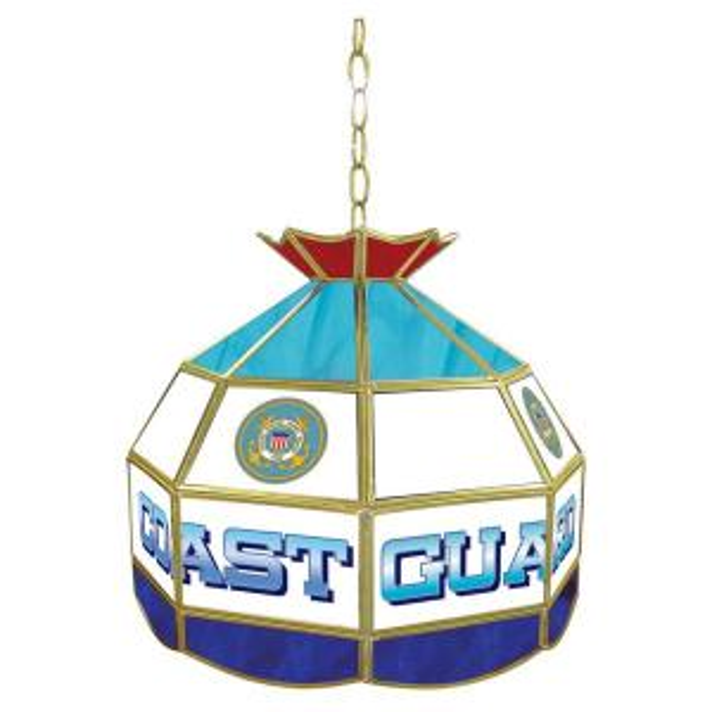 United States 16 in. Coast Guard Hanging Tiffany Lamp