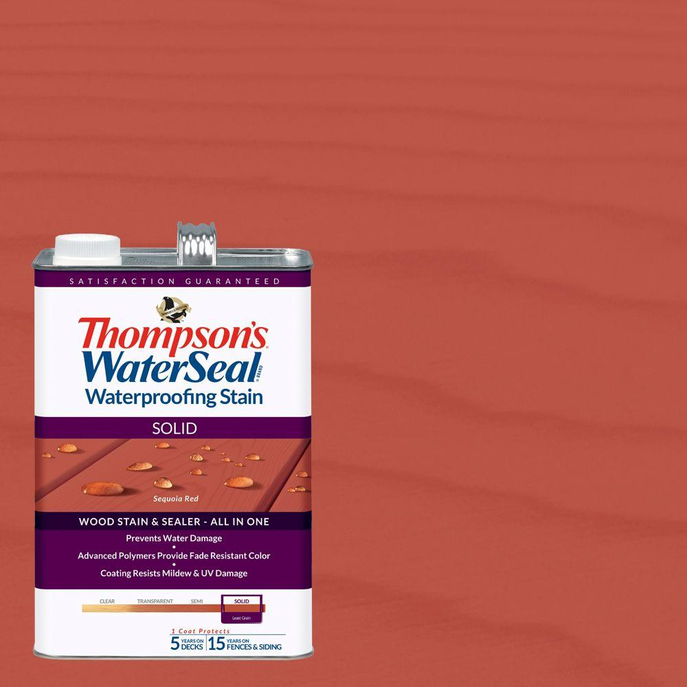 Thompson's WaterSeal 1 gal. Solid Sequoia Red Waterproofing Stain Exterior Wood