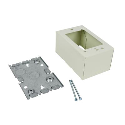 Wiremold 500 and 700 Series Metal Surface Raceway Deep 1 Gang Electrical Box, Ivory