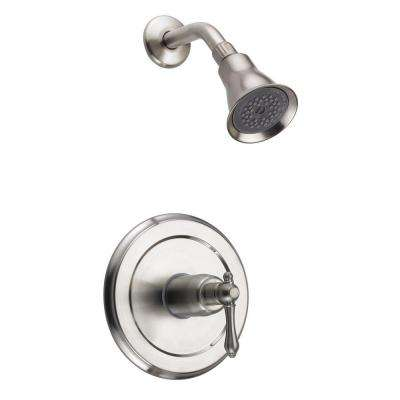 Bellver 1-Handle 1-Spray Tub and Shower Faucet in Brushed Nickel (Valve Included)