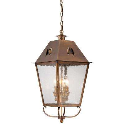 Edenshire 4-Light English Brass Outdoor Chain Hung