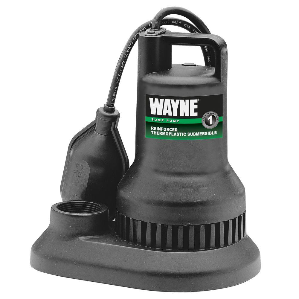 Sump Pump Systems : Wayne hp thermoplastic sump pump wst the home depot
