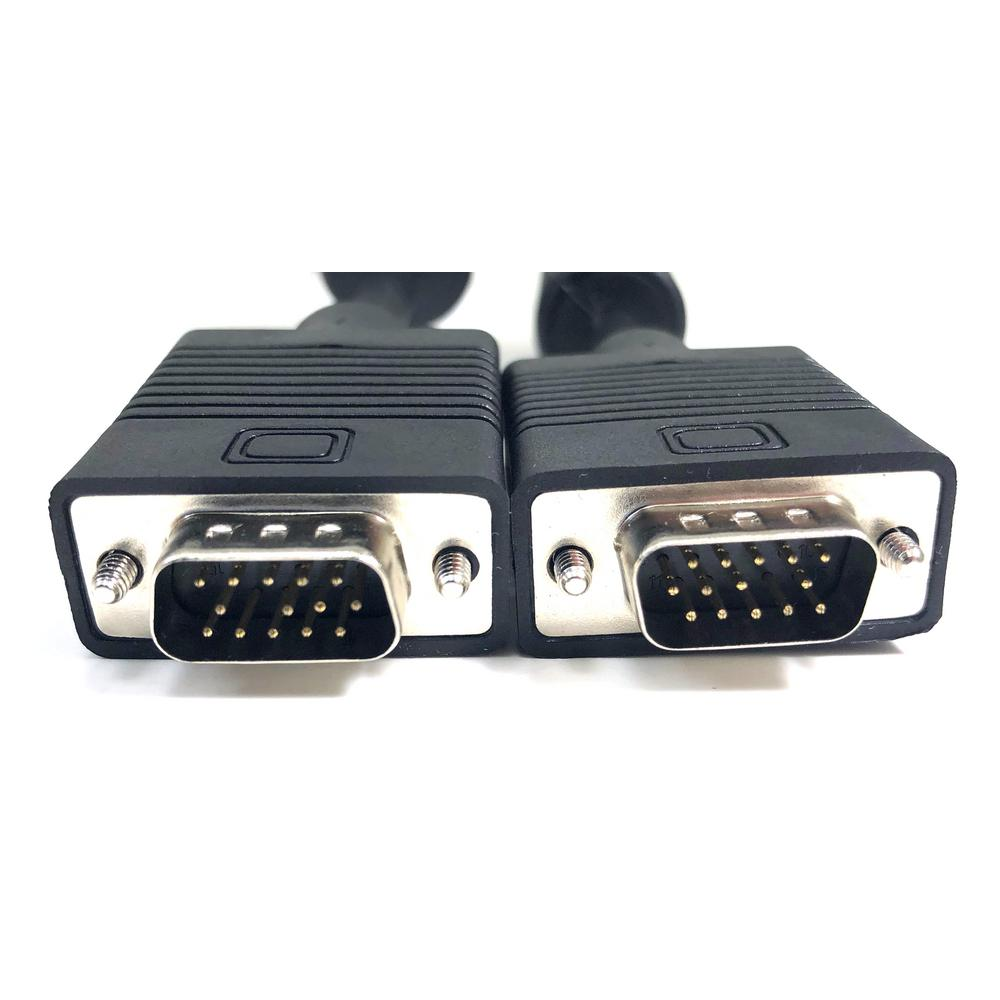 HD15 SVGA Male to Male Monitor Cable with Ferrite Bead 3 Ft