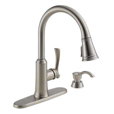 Lakeview Single-Handle Pull-Down Sprayer Kitchen Faucet with ShieldSpray Technology and Soap Dispenser in Stainless
