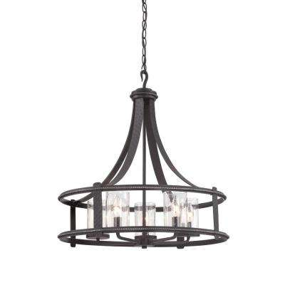 Palencia 5-Light Artisan Pardo Wash Interior Incandescent Chandelier