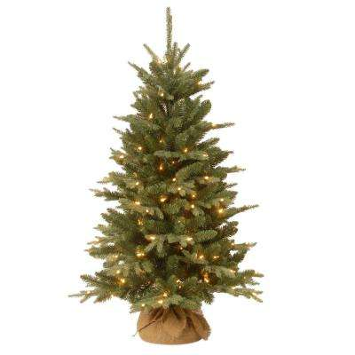 4 ft. Burlap Artificial Christmas Tree with Clear Lights