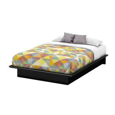 Step One Queen-Size Platform Bed in Pure Black