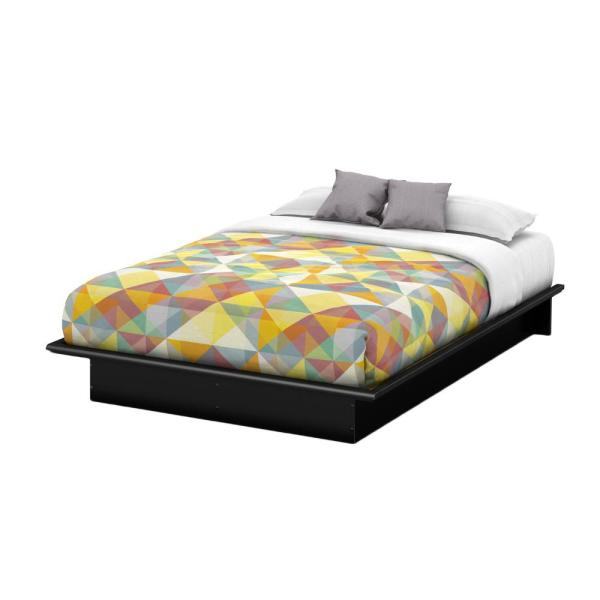 dd360be3e0c870 South Shore Step One Queen-Size Platform Bed in Pure Black 3070233 ...