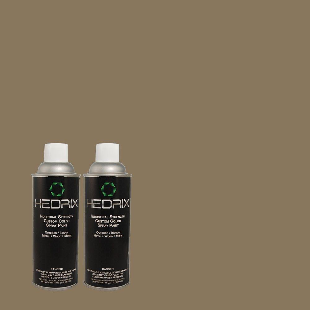 Hedrix 11 oz. Match of 70YY18/072 Armadillo Semi-Gloss Custom Spray Paint (2-Pack)
