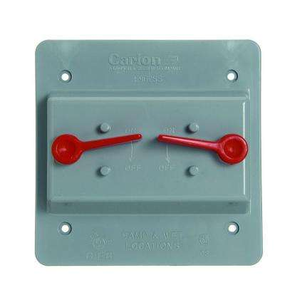 2 Gang Weatherproof Electrical Box Cover - Toggle (Case of 3)