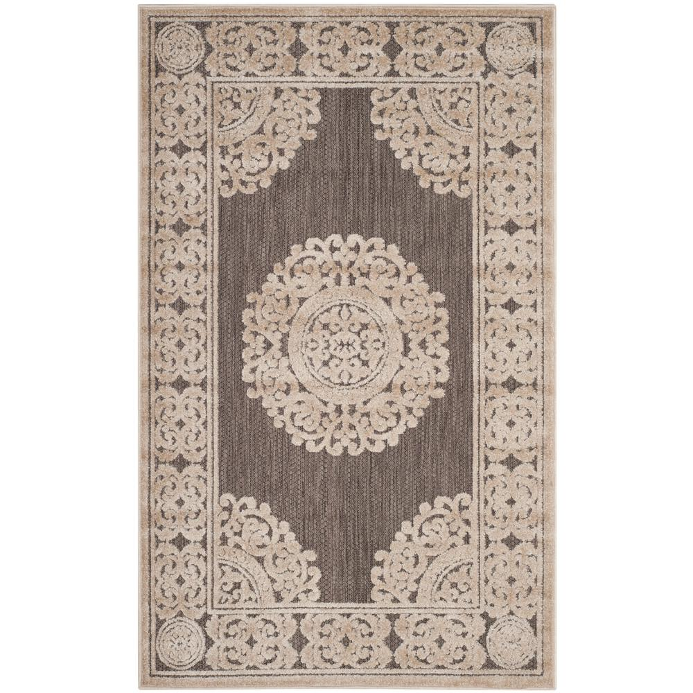 Safavieh Cottage Taupe 3 Ft X 5 Indoor Outdoor Area Rug