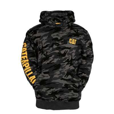 Trademark Banner Men's Small Night Camo Cotton/Polyester Hooded Sweatshirt